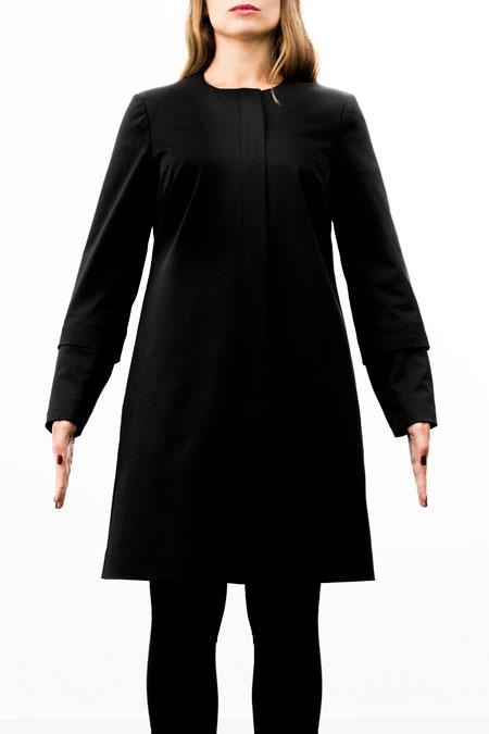 Hips-friendly coat - medium height - front look