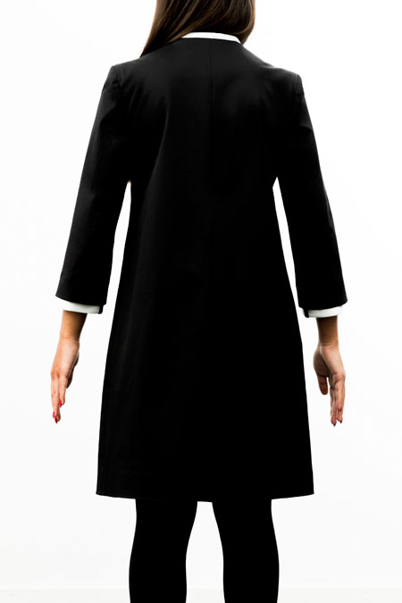 Petite-friendly coat - medium height - from behind