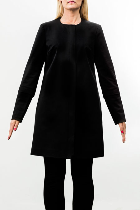hips-friendly coat for tall women