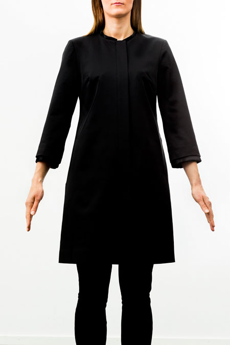 Petite friendly coat - front look