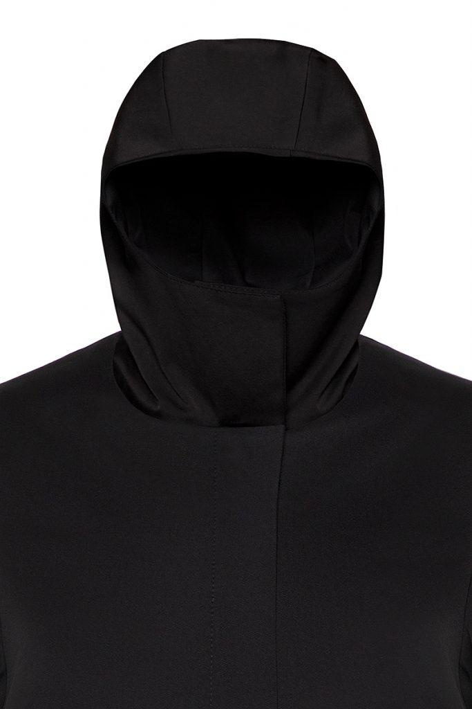 Coatally The Protectally Collar-Hood detail