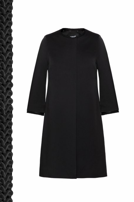 Coatally The Elisabeth Coat Black Decorative Details