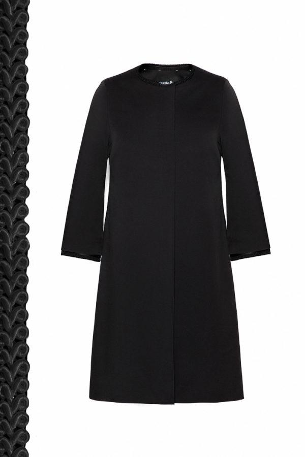 Coatally The Elisabeth Coat Black Decorative Details