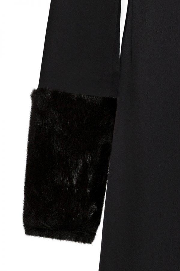 Coatally The Powerfulally Detail Set Black Faux Fur Collar