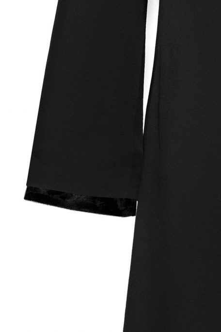 Short faux fur set for coat