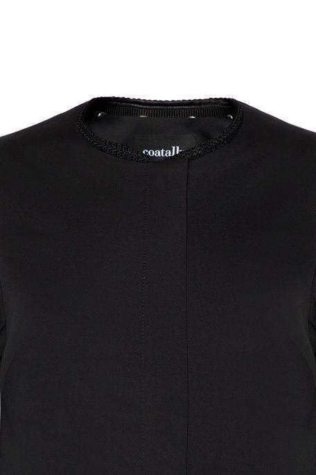 Coatally Braveally Black Braided Deatil