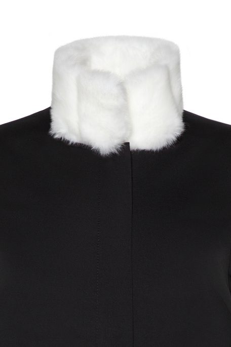 Coatally The Courageally Detail White Faux Fur Set