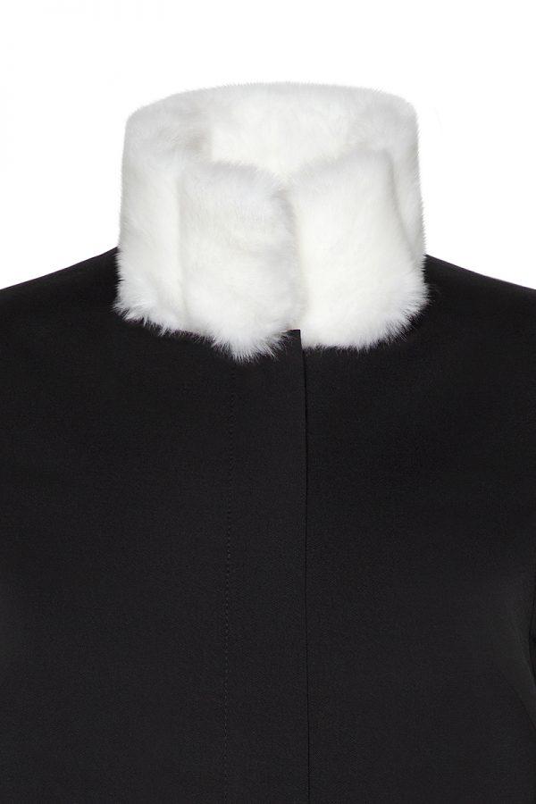 Coatally The Courageally Detail White Faux Fur Set