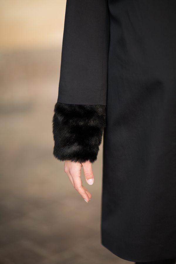Coatally The Powerfulally Detail Black Collar Fur