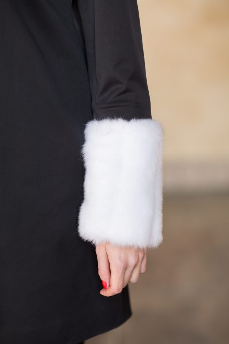 The Courageally Detail Set White Faux Fur for interchangeable coat