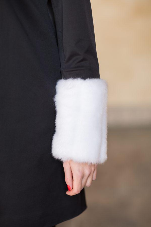 The Courageally Detail Set White Faux Fur