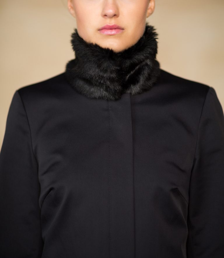 Coatally The Powerfulally Detail Black Collar Fur