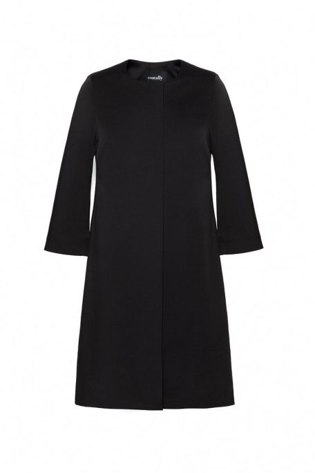 Black coat in timeless design