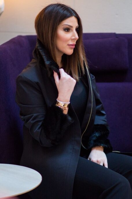 The Linn smart coat with add-on faux fur sleeves and collar