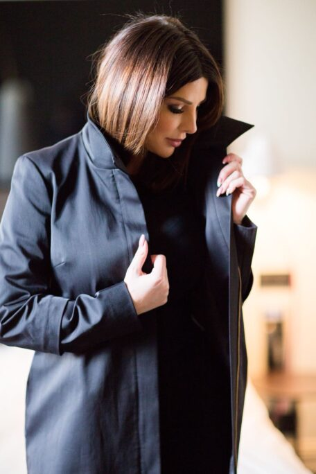 The smart coat with high protective collar