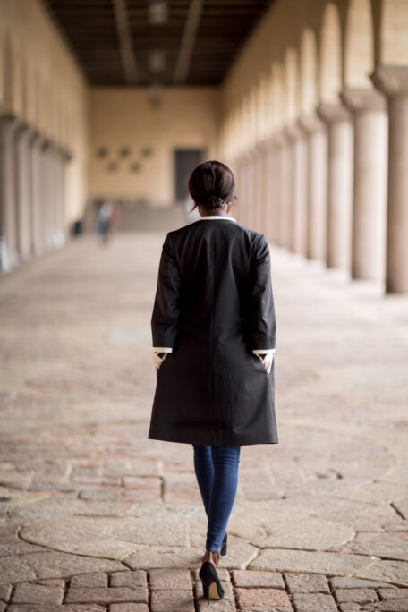 The Stina womens coat with detachable details